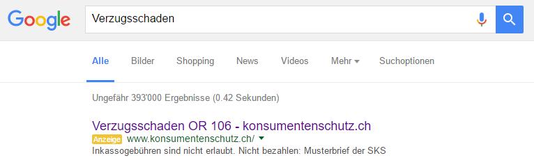 Inkasso Rechtskanzlei Verzugsschaden Nach Art 106 Or